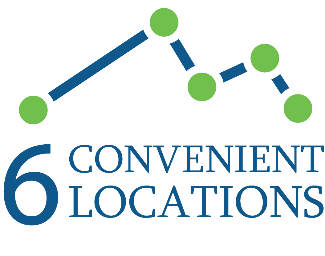 6 Convenient Locations